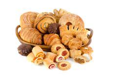 Bakery foodstuffs set Stock Photos