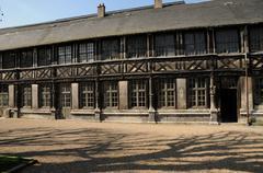 Normandy, l Aitre Saint Maclou in Rouen - stock photo