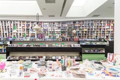 Literature Books For Sale In Library Interior - stock photo