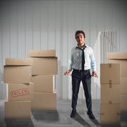 Failed businessman - stock photo
