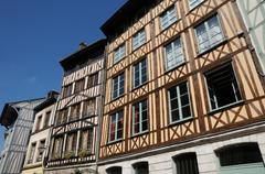 Normandy, picturesque old historical house in Rouen - stock photo