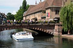 Picturesque city of Strasbourg in Alsace Stock Photos