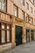 Normandy, picturesque old historical house in Rouen Stock Photos