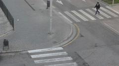Time lapse people crossing street/zebra - stock footage