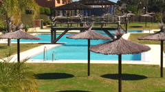 swimming pool on Costa del Sol Stock Footage