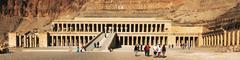 Egypt. Luxor. Deir el-Bahari (or Deir el-Bahri). The Mortuary Temple of Hatsh - stock photo