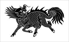 Chinese lion Stock Illustration