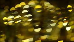 Fingers interrupt and intersect bokeh in bar Stock Footage