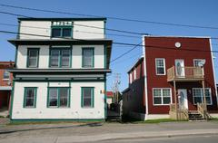 Quebec, the small village of Bonne Aventure - stock photo