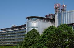 Alsace, the European Court of Human Rights in Strasbourg - stock photo