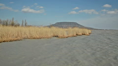 Wind storm in Szigliget at Lake Balaton, Hungary Stock Footage
