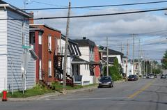 Quebec, the city of Trois Rivieres in Mauricie - stock photo