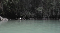 in the lagoon - stock footage