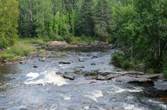 Quebec, river in the Zoo of Saint Felicien Stock Photos
