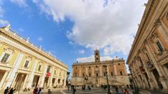 Piazza del Campidoglio. Capitoline Hill, Rome, Italy  Stock Footage