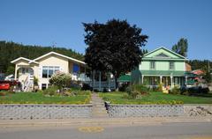 Quebec, the picturesque village of Tadoussac - stock photo