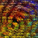 Stock Illustration of Psychedelic Colorful Art Background. Abstract Decorative Grunge. Weird Shapes.