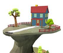 Cartoon scene Stock Illustration