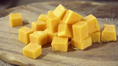 Heap of Cheddar Stock Footage