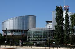 France, the European Court of Human Rights in Strasbourg - stock photo