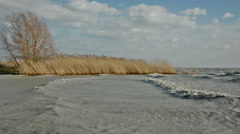 Extreme weather at Lake Balaton, Hungary Stock Footage