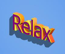 Relax word - stock illustration