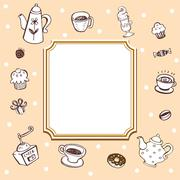 Coffee theme Background Stock Illustration