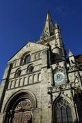 Burgundy, the historical cathedral of Autun - stock photo