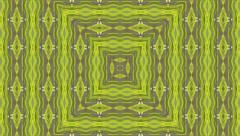 Green and gray animation of decorative pattern with kaleidoscopic effect. Stock Footage