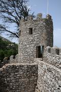 Portugal, the moorish castle in Sintra - stock photo