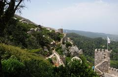 Portugal, the moorish castle in Sintra Stock Photos