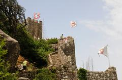 Stock Photo of Portugal, the moorish castle in Sintra