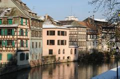 the district of La Petite France in Strasbourg - stock photo