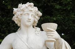 Ile de France, statue in the park of Versailles Palace Stock Photos