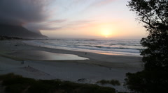 Camps bay Cape Town sunset  Stock Footage