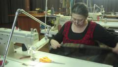 Stock Video Footage of Woman seamstress at work
