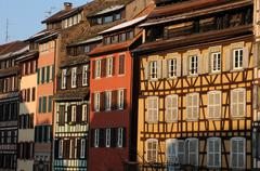The district of La Petite France in Strasbourg Stock Photos