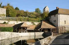 France, the old wash house of Jumeauville Stock Photos