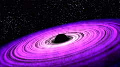 Black Hole Animation - Loop Purple Stock Footage
