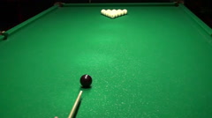 Billiards Beginning Of The Game Stock Footage