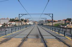 Don Luis Bridge in Porto - stock photo