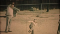 Vintage family, father and son playing Stock Footage