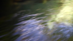 Soft focus closeup of river with water flowing. Stock Footage