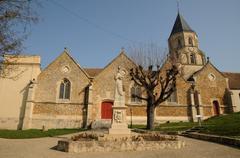 Stock Photo of France, church of Saint Martin la Garenne in Les Yvelines