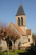 Stock Photo of the Saint Martin church of Mareil sur Mauldre