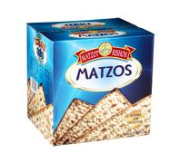 Carton box of Matzot Rishon Matzos Stock Photos