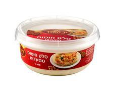 Factory-made hummus Yad Hamelech 400 grams - stock photo