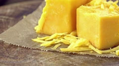 Grated Cheddar (loopable) Stock Footage