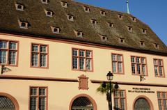 Bas Rhin, old building in Strasbourg - stock photo