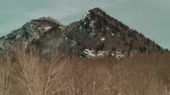 snowy mountain peak appalachia north carolina - stock footage